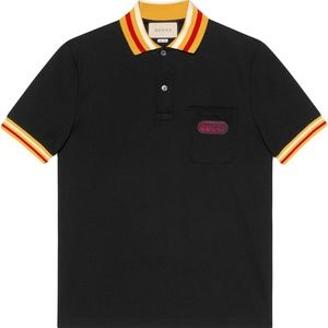 BLACK COTTON CASUAL POLO SHIRTS NEW WITH TAGS